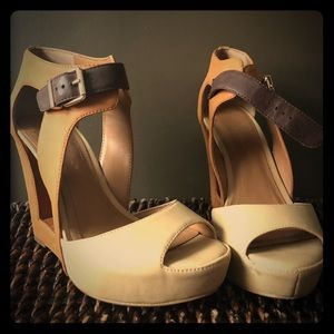 BCBGeration Wedges with cut out